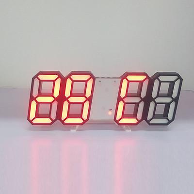 Đồng Hồ Điện Tử Treo Tường Mặt Kính 3D