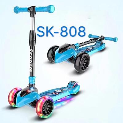 Xe trượt Scooter Sk-808 3 bánh phát sáng cho bé