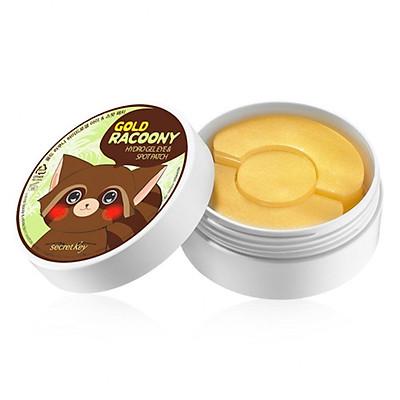 Mặt nạ đắp dưỡng da vùng mắt và ngăn ngừa mụn thâm 2 trong 1 Secret Key Gold Racoony Hydro Gel & Spot Patch