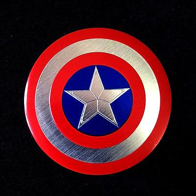 Miếng dán kim loại hình khiên CAPTAIN AMERICA 7.5cm