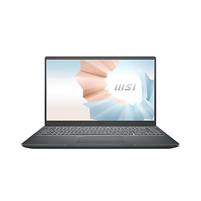 Laptop MSI MODERN 14 B10MW-635VN Gray (Cpu i3-10110U, Ram 8GB, SSD 256GB, UMA, 14 inchFHD, Win 10) - Hàng chính hãng