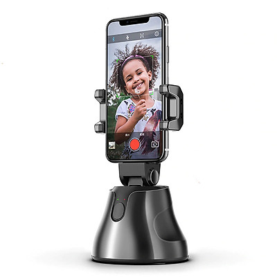 Gimbal AI kiêm giá đỡ điện thoại cảm biến thông minh quay phim chụp hình xoay 360 độ nhận diện khuôn mặt - Auto Smart Following cameraman  ( Giao màu ngẫu nhiên)