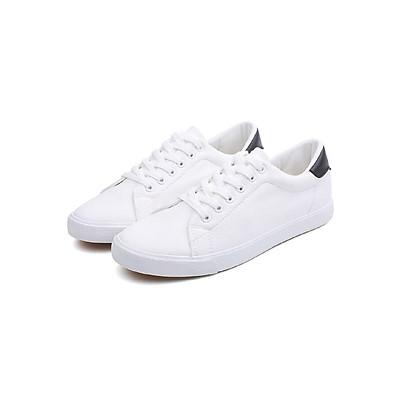 Giày Nam, Giày Sneaker Nam, Giày  Thể Thao Nam  Thời  Trang Phong Cách Hàn Quốc Màu Trắng Đơn Giản  Da Đẹp Cao Cấp Đế Cao 2 Cm YNGNSNEAKER02