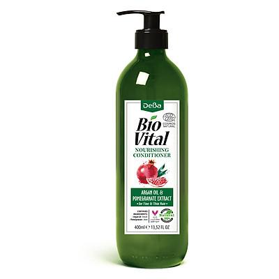 Dầu Xả Organic Nuôi Dưỡng, Phục Hồi Tóc Khô Xơ, Ngăn Ngừa Rụng Tóc Và Mọc Tóc Chiết Xuất Từ Aragn và Lựu Deba Bio Vital  Argan Oil & Pomegranate - HÀNG HỮU CƠ NHẬP KHẨU