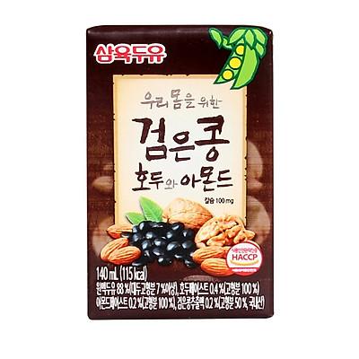Thùng 24 Hộp Sữa Đậu Đen, Óc Chó, Hạnh Nhân Sahmyook Foods (140ml / Hộp)