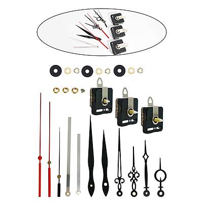 Black Non-Ticking Quartz Clock Movement Mechanism Metal Wall Clock Hands Collectibles Parts Home Decor Accessories