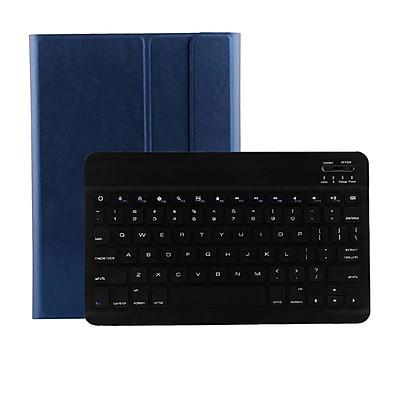 Bao da kèm bàn phím bluetooth cho Samsung Galaxy Tab S6 10.5 2019 T860 T865 ( Xanh than) - Hàng nhập khẩu