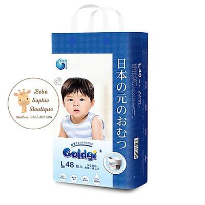 Combo 2 túi Bỉm quần GOLDGI+ Size L 48 miếng (cho trẻ từ 9-14kg)