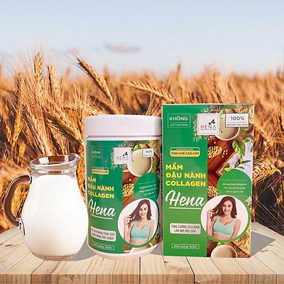 Mầm Đậu Nành Collagen Hena 500g - Bột Mầm Đậu Nành Tinh Chế Nguyên Xơ Cao Cấp với 100% Nguyên Liệu Hữu Cơ - Tăng Vòng 1 Siêu Tốc - Đã Kiểm Nghiệm và Công Bố Chất Lượng - Sản Phẩm Chính Hãng