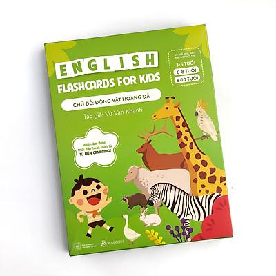 Bộ 30 Thẻ Học (Flashcards) Thông Minh Song Ngữ Tiếng Anh Phiên Âm chuẩn CAMBRIDGE - Chủ đề : Động Vật Hoang Dã ( cho bé 3 - 10 tuổi), Chất liệu giấy Ivory cao cấp