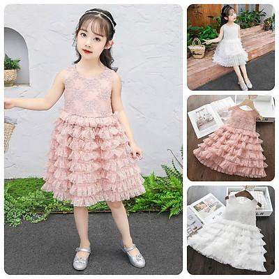 VT43 Size 100-140 (12-30kg) Váy đầm xoè bé gái - Kiểu dáng công chúa Thời trang trẻ Em hàng quảng châu
