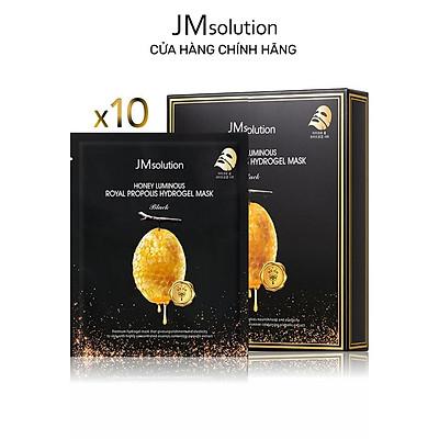Combo 10 Mặt Nạ Thạch Mật Ong, Chống Lão Hóa Da JMSolution Honey Luminous Royal Propolis Hydrogel Mask Black 30g x10