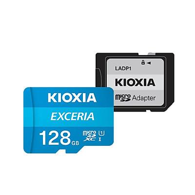 Thẻ nhớ 128GB Micro SDHC Exceria UHS-1 C10 100MB/s Kioxia (Có Adapter) - Hàng Chính Hãng