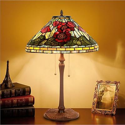 Đèn bàn Tiffany chao 40 hoa theo phiên bản gốc