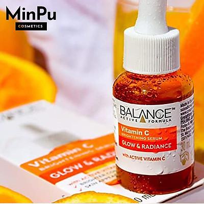 Serum Vitamin C Brightening Glow & Radiance - Tinh Chất Balance Active Formula Vitamin C Sáng Da 30ml