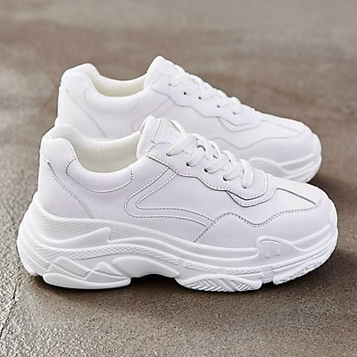 Giày thể thao nữ full trắng viền số 7