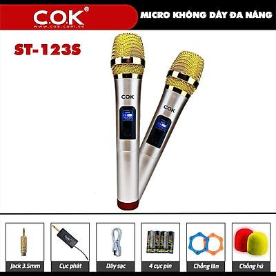 MICRO KHÔNG DÂY C.O.K ST-123 - HÀNG CHÍNH HÃNG