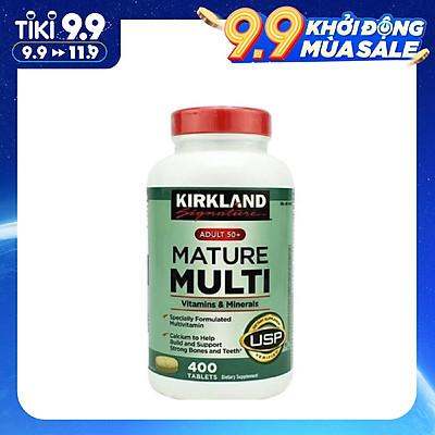 Vitamin tổng hợp Kirkland Mature Multi Adult 50+ Hộp 400 viên của Mỹ - dành cho nam, nữ trên 50 tuổi, Tăng cườngmiễn dịch, phòng bệnh tật, đặc biệt là các bệnh lây nhiễm, bệnh do virus, vi khuẩn
