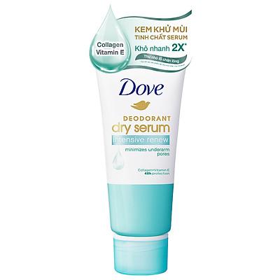 Kem khử mùi Dove tinh chất serum dành cho nữ với Collagen & Vitamin E dưỡng da sáng mịn & thu nhỏ lỗ chân lông, 50ml