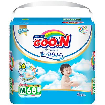 Tã quần Goon Premium cao cấp  gói siêu đại M68 (7kg ~ 12kg) 68 miếng