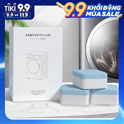 Hộp 8 Viên Tẩy Lồng Máy Giặt SPEVI Dạng Sủi Xuất Xứ Nhật Bản - Vệ Sinh Máy Giặt, Diệt Sạch Vi Khuẩn, Vệ Sinh Lồng Máy Giặt Và Khử Mùi Hiệu Quả - Hàng chính hãng