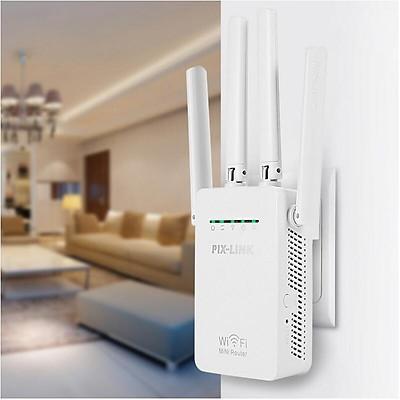 Thiết bị kích sóng wifi PIX-LINK 4 ăng ten LV-WR09 WR09 -dc3096 - Hàng nhập khẩu