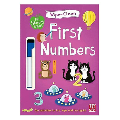 I'M Starting School: First Numbers: Wipe-Clean Book With Pen - I'M Starting School