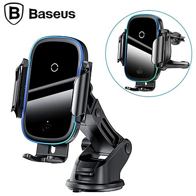 Giá đỡ điện thoại kiêm sạc không dây gắp taplo, cửa gió điều hòa ô tô Baseus WXHW03 - Hàng chính hãng