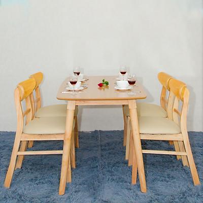 Bộ bàn ăn MG tự nhiên 4 ghế cao cấp