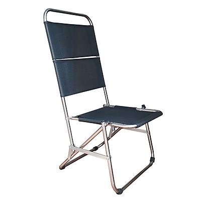 Ghế xếp cafe vải đen lưng cao