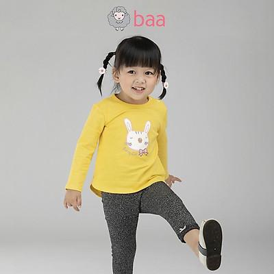 Áo thun BAA BABY dài tay hình thêu đắp cho bé gái từ 1 -7 tuổi - GT-AT14D