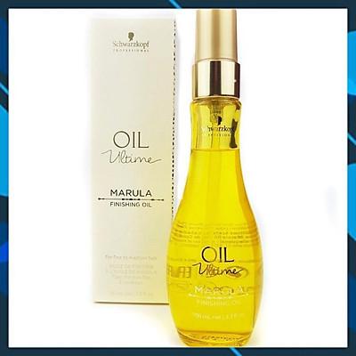 Tinh dầu dưỡng tóc sợi mảnh đến trung bình Schwarzkopf OIL Ultime Marula Finishing Oil 100ml (màu vàng nhạt)