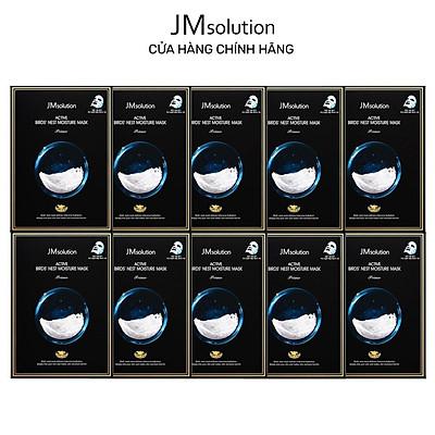 Combo 10 Mặt Nạ Tổ Yến Chống Lão Hóa Da JMSolution Active Birds Nest Moisture Mask 30ml x10