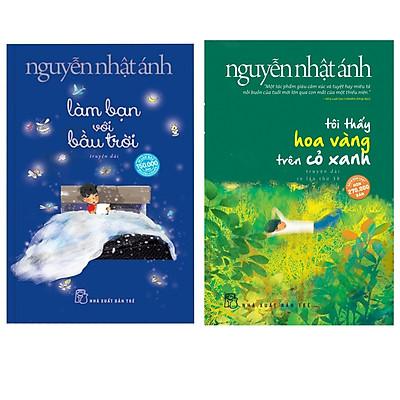 Combo Tiểu Thuyết Đặc Sắc: Tôi Thấy Hoa Vàng Trên Cỏ Xanh + Làm Bạn Với Bầu Trời (Bộ Đôi Sách Bán Chạy Nhất Của Nguyễn Nhật Ánh - Tặng Kèm Bookmark Green Life)