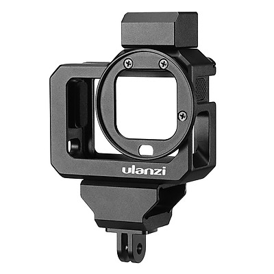 ulanzi G8-5 Action Camera Video Cage Compatible with GoPro Hero 8 Black Vlog Case Housing Aluminum Alloy with Dual Cold