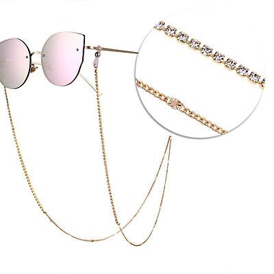 Woman Fashion All Match Diamond-encrusted Anti-slip Eyeglasses Chain