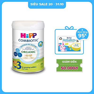 Sữa bột công thức HiPP 3 Organic Combiotic 800g