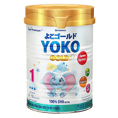 SỮA BỘT GOLD YOKO 1 VINAMILK 350G ̣̣DÀNH CHO BÉ TỪ 0 - 1 Tuổi