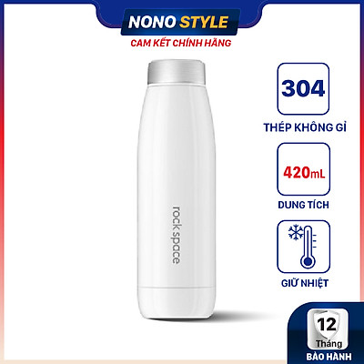Bình giữ nhiệt cao cấp Rock Smart Vacuum Bottle S1600 (420 ml) - Inox 304 - Nút bấm điều chỉnh 3 chế độ Lạnh - Ấm - Nóng