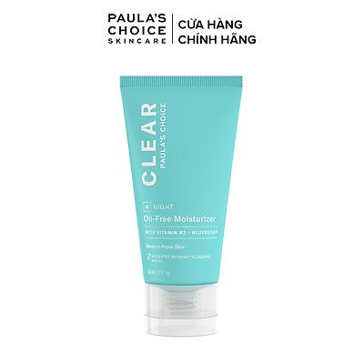 Kem dưỡng ẩm đêm không dầu dành cho da mụn 60ml - Paula's Choice CLEAR OIL-FREE MOISTURIZER