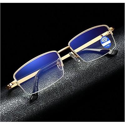 Kính lão thị viễn thị trung niên gọng gold chống rỉ cao cấp cực sáng và rõ kv5pcp1k