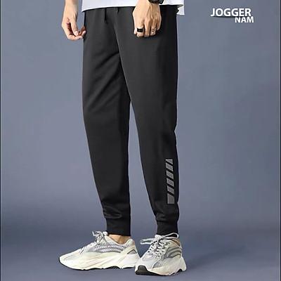 Quần thể thao nam TinoFun mã TT58 chất thun trơn jogger kẻ sọc kiểu bó ống Hàn Quốc đẹp ống dài co giãn mùa hè thu