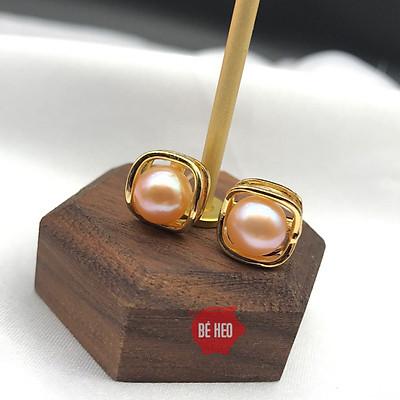Bông tai ngọc trai nuôi nước ngọt - Tặng Quà 0đ - Trang sức Bé Heo BHBT451