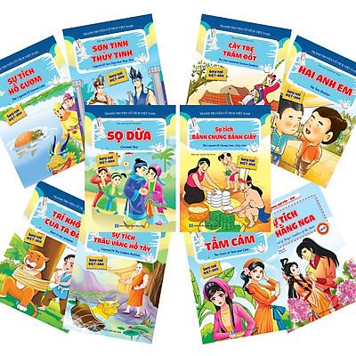 Full bộ (10 quyển) Truyện cổ tích Việt Nam (Song ngữ Việt - Anh)