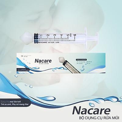 Bộ dụng cụ rửa mũi Nacare đầu silicone mềm, kháng khuẩn