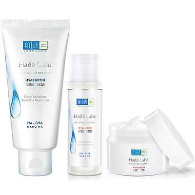 Bộ sản phẩm dưỡng ẩm sâu da trong mướt Hada Labo Advanced Nourish Trial Set