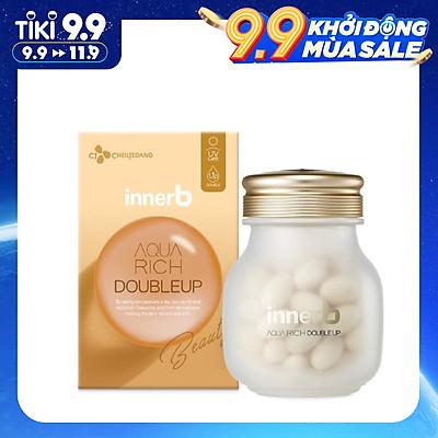 Thực phẩm bảo vệ sức khỏe INNERB AQUA RICH DOUBLEUP (giúp giữ ẩm da sáng mịn từ Axit Hyaluronic) lọ 56 viên