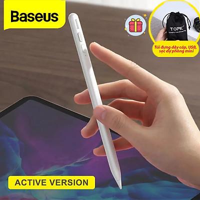 (Tặng kèm túi đựng TOPK) Bút Cảm Ứng Điện Dung Smooth Baseus Cảm Ứng Màn Hình Cho Ipad Pro Air Cho Apple iPad Pencil 2-Hàng chính hãng