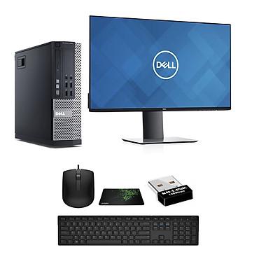 Bộ Máy tình Để Bàn Dell X020 ( Core i7 - 4770 / Ram 8GB / SSD 240GB / Card hình Quadro K620- 2Gb) Và Màn hình Dell U2419H và Bàn Phím chuột Dell - Dòng Dùng Đồ Họa cao cấp  - Hàng chính hãng