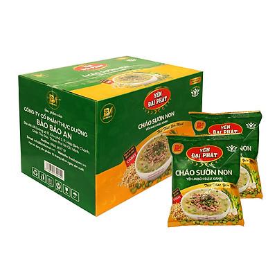 Cháo Sườn Non Yến Mạch Đậu Xanh - Yến Đại Phát, thùng 40 gói x 50gram, thịt thật, yến mạch ngon, đậm đà hương vị.